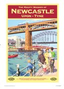 Newcastle - Bridges - Railway & Travel Poster